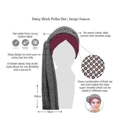 daisy brick polka dot features
