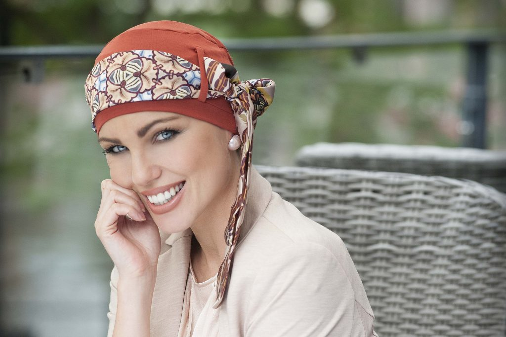 YANNA BRICK CINNAMON head scarves for chemo patients
