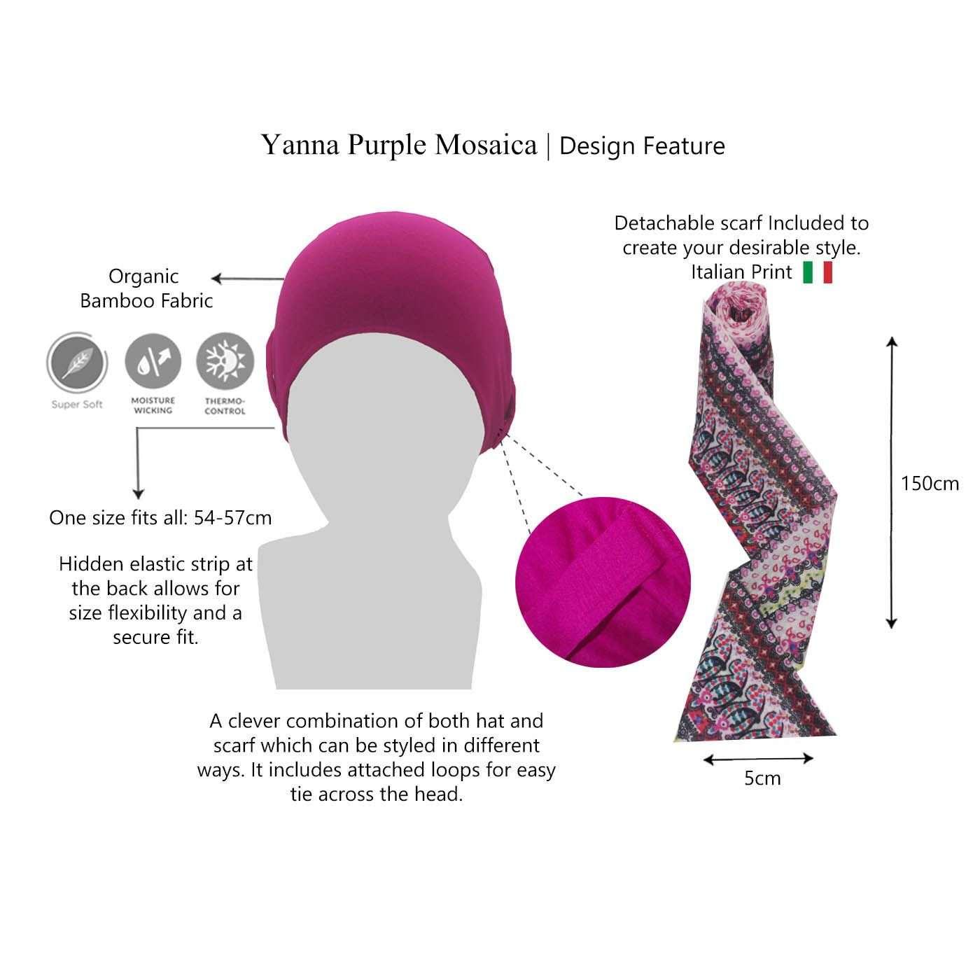 Stylish chemo scarf