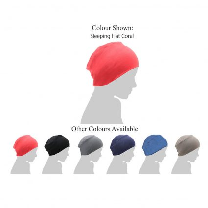coral chemo sleeping hat