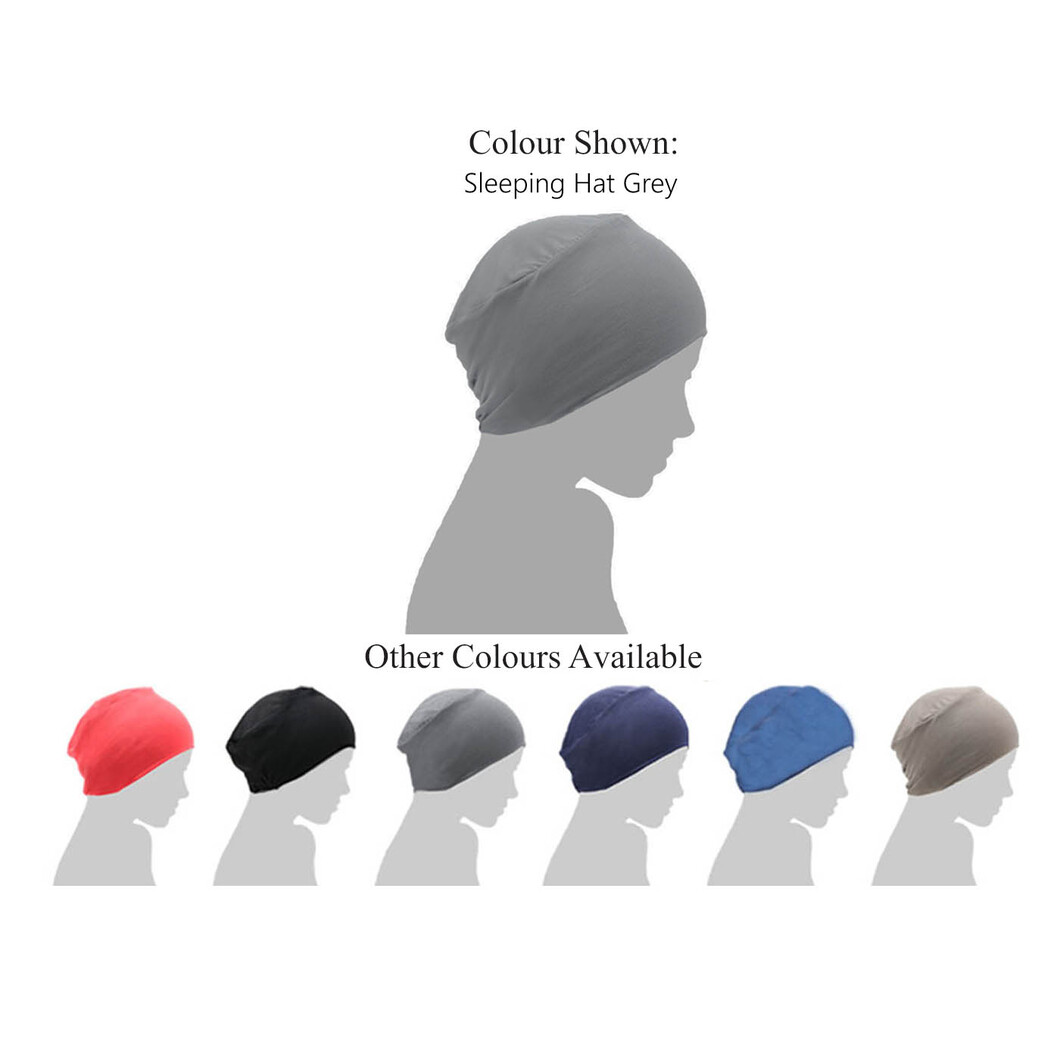 grey chemo sleep cap
