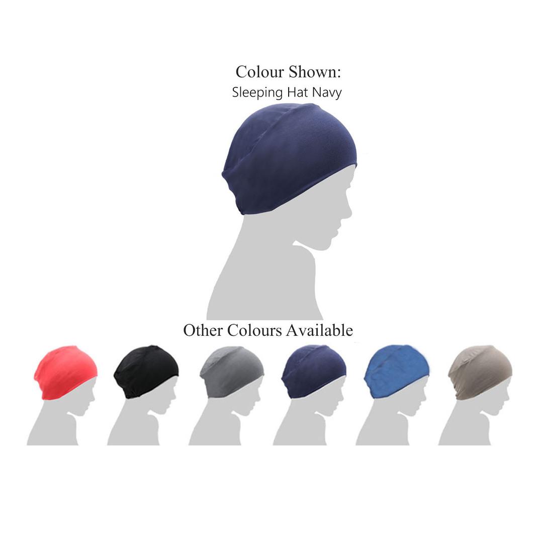 navy blue chemo sleep cap