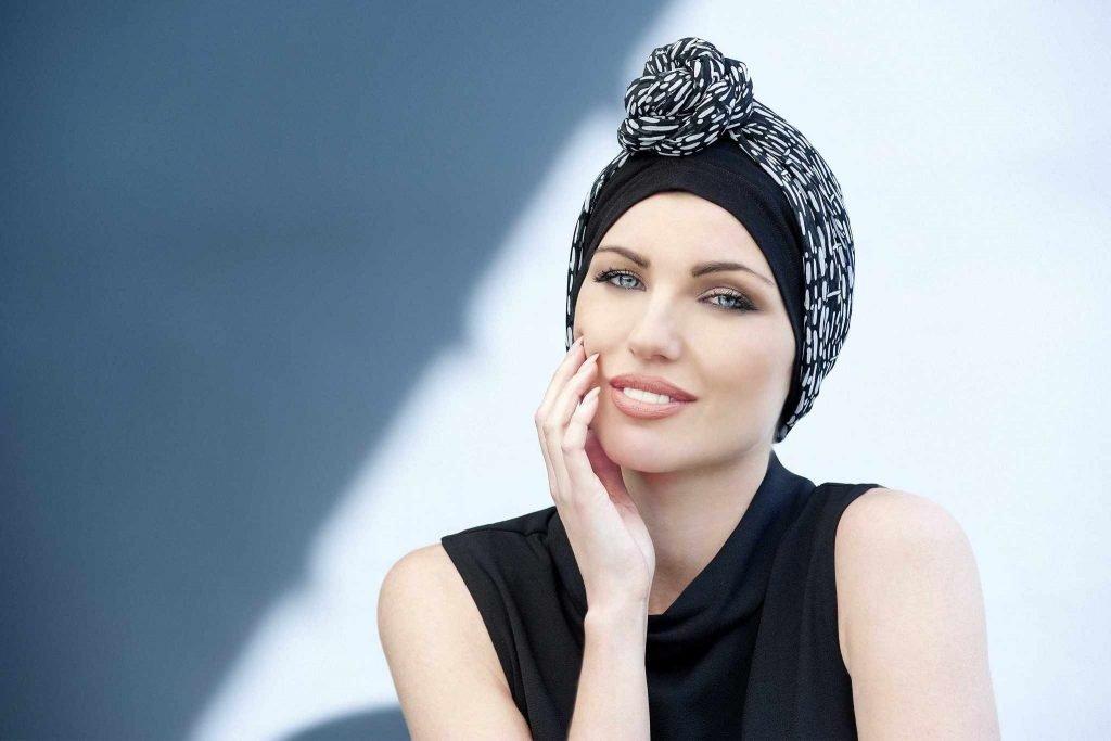 black chemo headwear