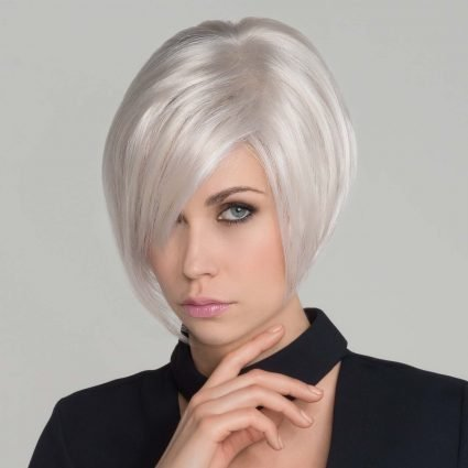 medium length platinum wig