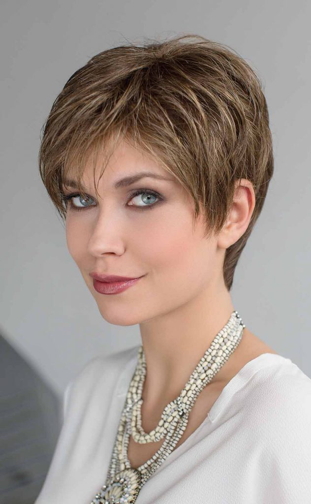 short pixie wig caramel brown
