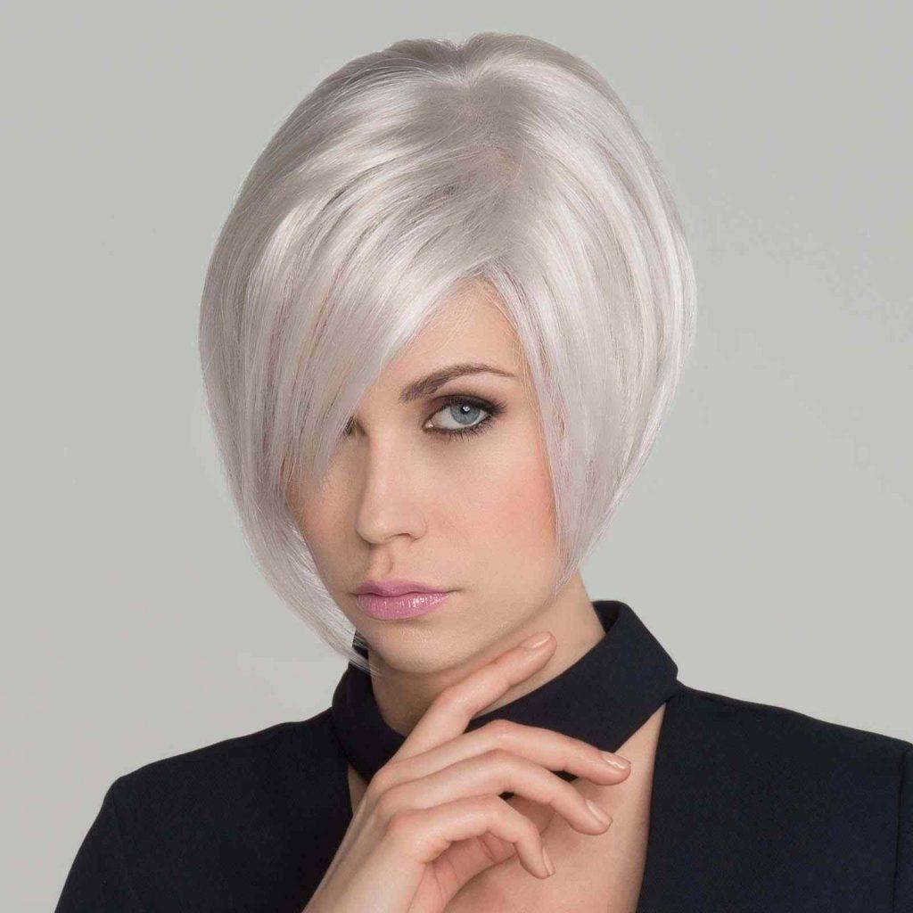 medium length platinum wig