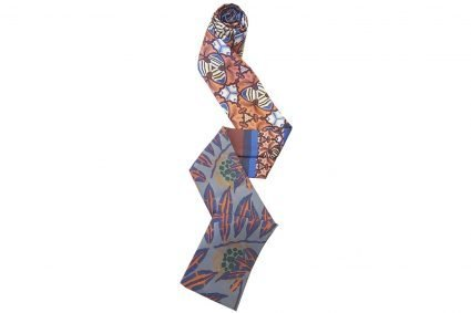 Chemo Scarf Grey Stone Alora floral pattern