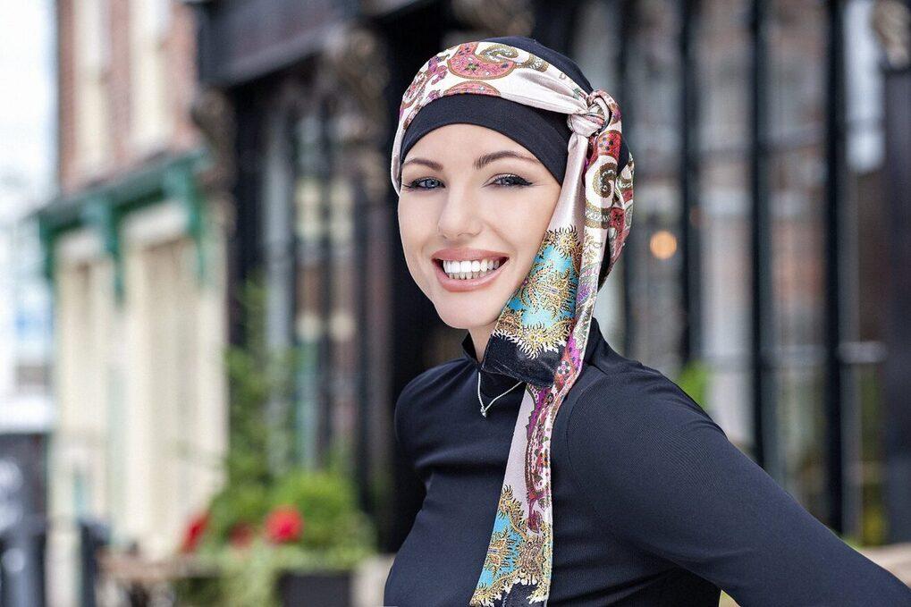 headscarf for chemo patients yanna black velvet alba