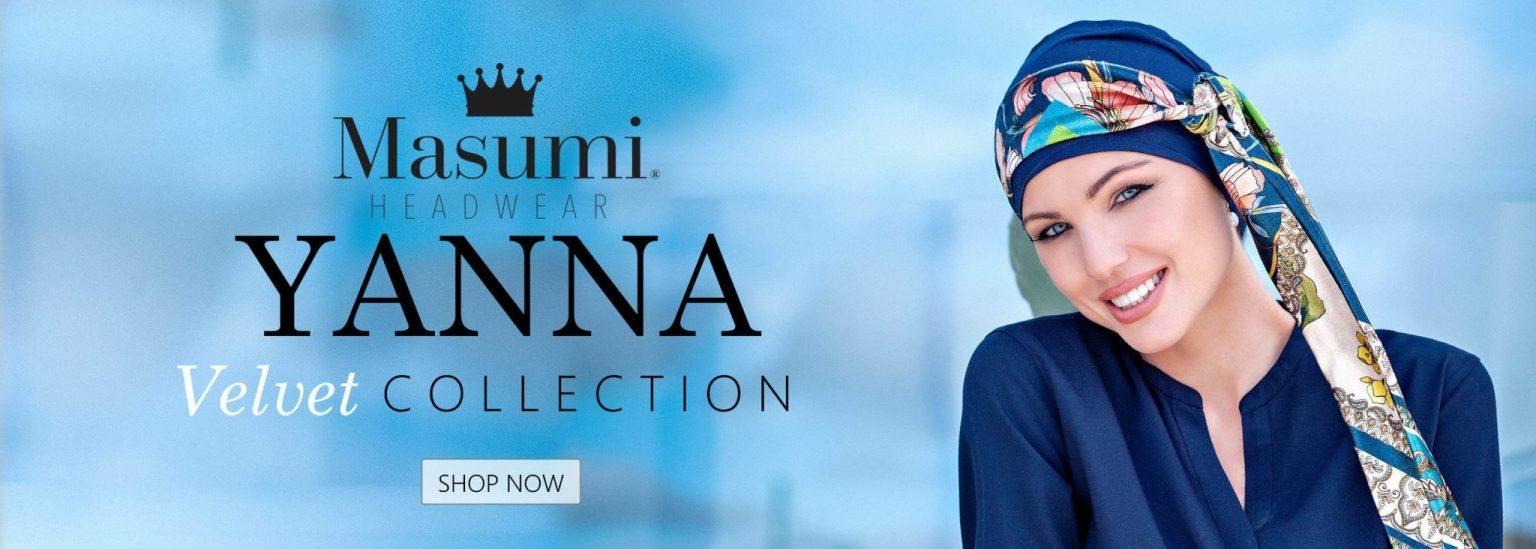 yanna velvet headwear collection banner
