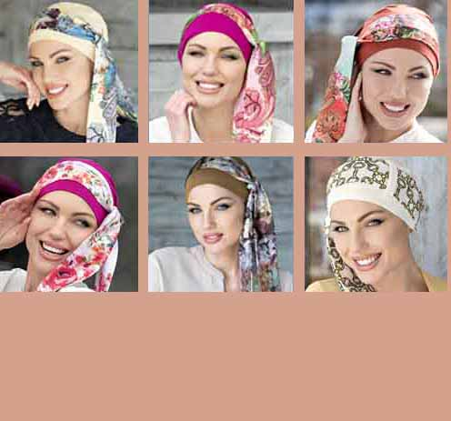 New chemo hats for woman with hair loss