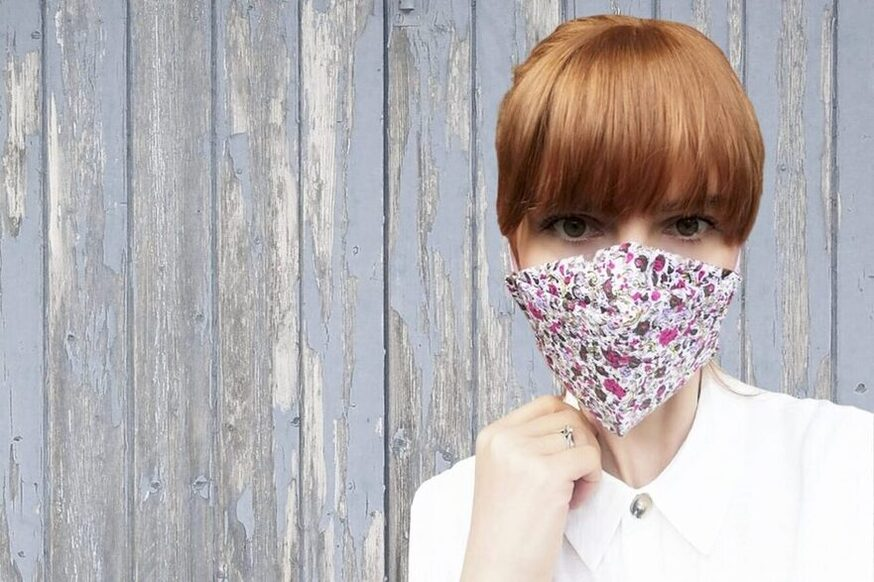 medical surgical Fabric-Face-Mask-flower