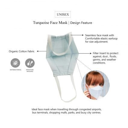 white face mask features