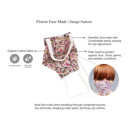 floral face mask features