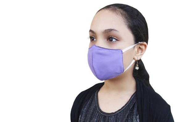 face masks for kids purple