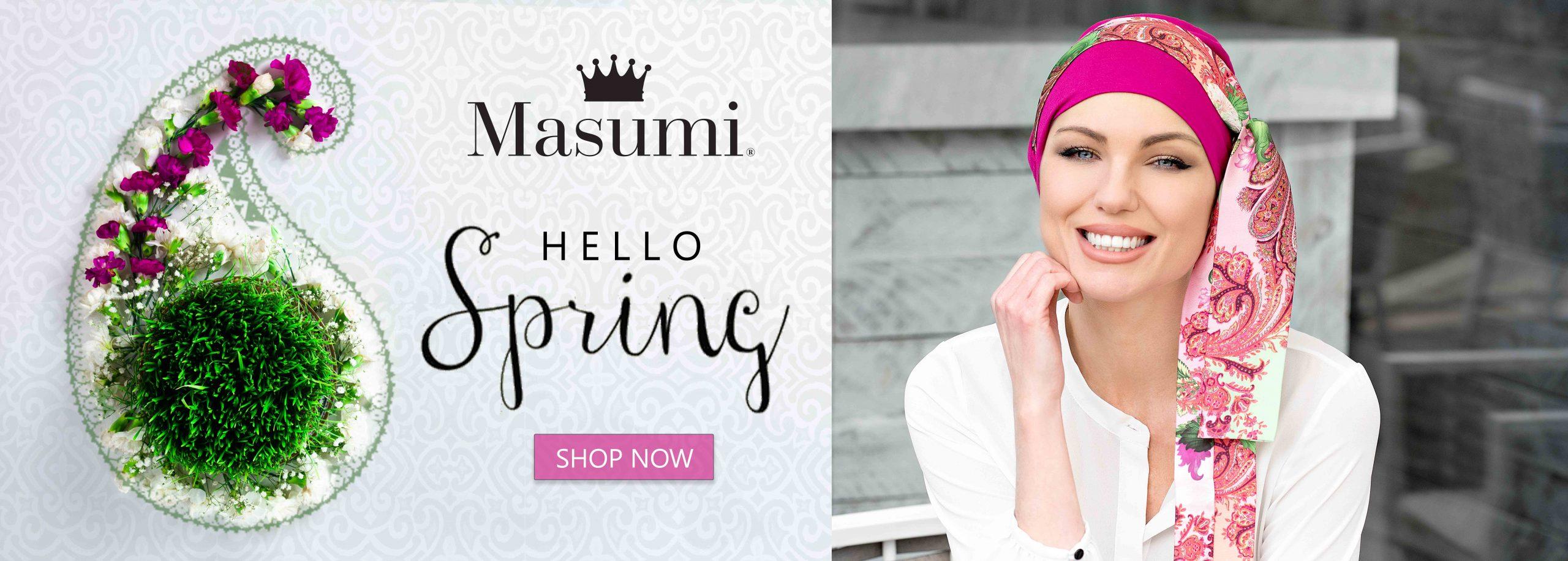 Masumi Headwear Spring 2021 banner